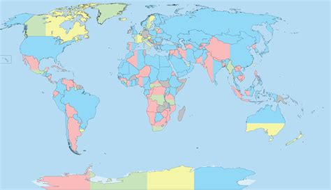 I Decided To Make An Aqproximate Map Of The World With
