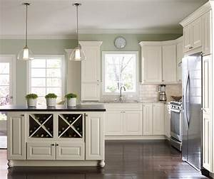 off white painted kitchen cabinets homecrest With kitchen colors with white cabinets with vinyl wall art custom