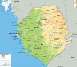 Sierra Leone Map - Physical Map of Sierra Leone Sierra Leone