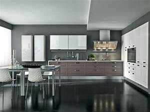 125 exemples de cuisines equipees ultra modernes partie 2 for Idee deco cuisine avec cuisine blanc gris