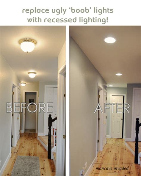 replacing a ceiling light fixture replacing halogen