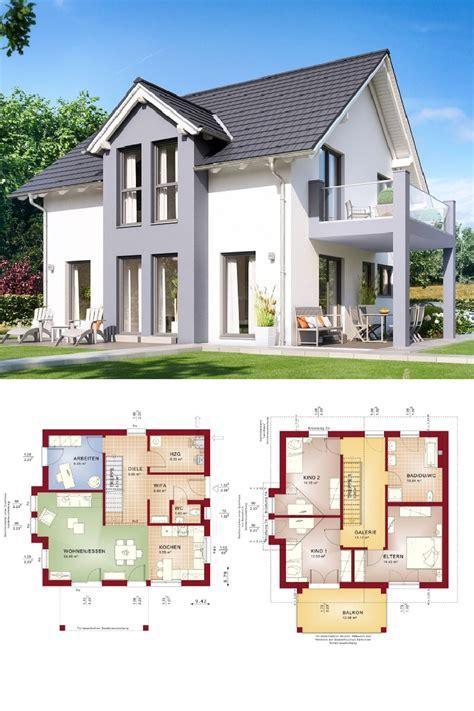 Moderne Häuser Balkon by Satteldach Haus Modern Mit Erker Und Balkon Grundriss