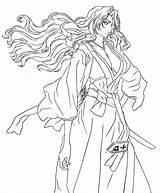 Rangiku Matsumoto Draw Coloring Deviantart Sketch Larger Credit sketch template