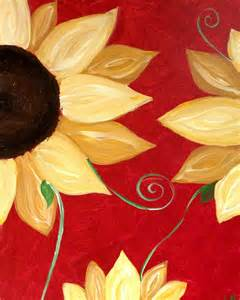 Red Sunflower Painting with a Twist On