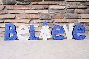 believe painted wooden letters With believe wooden letters