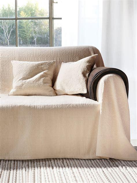 Peter Hahn  Überwurf Für Couch Und Bett, Ca 160x270cm Weiß