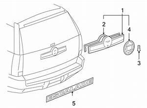 Cadillac Escalade Liftgate Finish Panel  Cadillac  W  O Rr