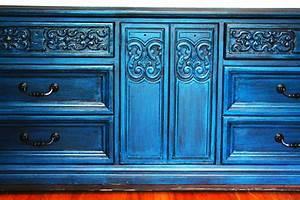Modernly, Shabby, Chic, Furniture, 9, Drawer, Peacock, Blue, Dresser