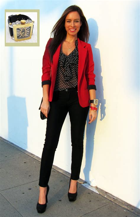 Red Blazer Outfit - Baggage Clothing