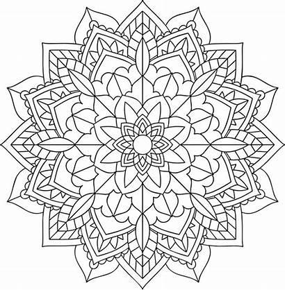 Mandala Coloring Mandalas Simple Floral Creativity Express