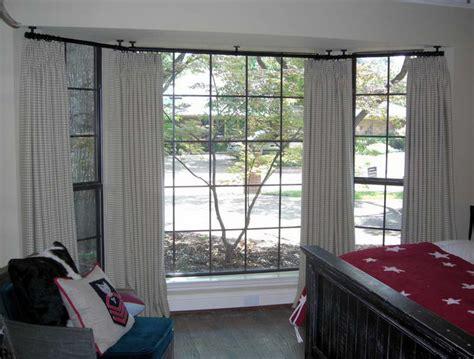 Kitchen Bay Window Curtain Ideas - ceiling mount curtain rod ideas homesfeed