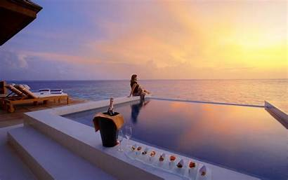 Luxury Hotel Water Luxuries Beach Travel Resort