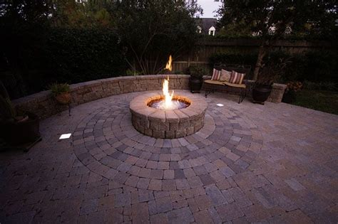 gas fire pit  bench wall  led paver lights yelp