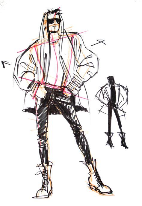 Male Body Fashion Drawing
