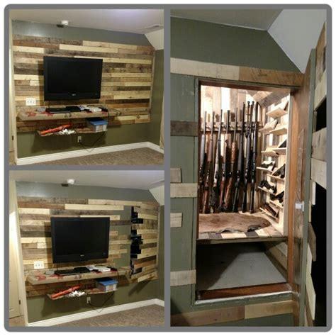 secret door to gun storage safe stashvault