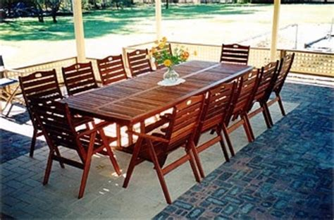 fairlie table  seater timber outdoor furniture perth