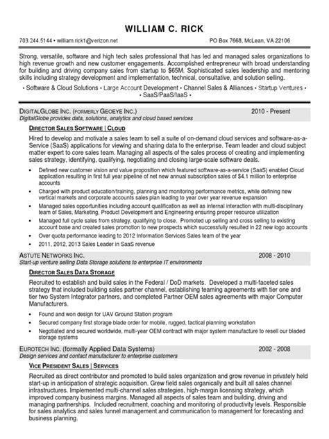 director sales software cloud in washington dc resume