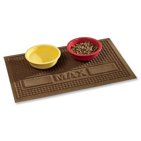 pet food mat just found this food mat personalized water trapper
