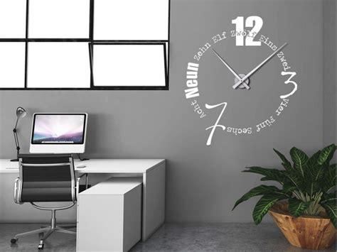 Wandtattoos Als Große Wanduhren  Moderne Uhren Mal Anders
