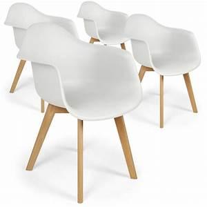 Lot De Chaises Design Pas Cher : chaises scandinaves design daven blanc lot de 4 pas cher scandinave deco ~ Melissatoandfro.com Idées de Décoration