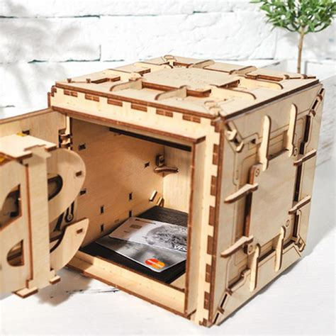 creative diy  assembly wooden puzzle toy innovative lock