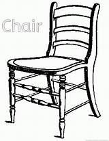 Chair Coloring Pages sketch template