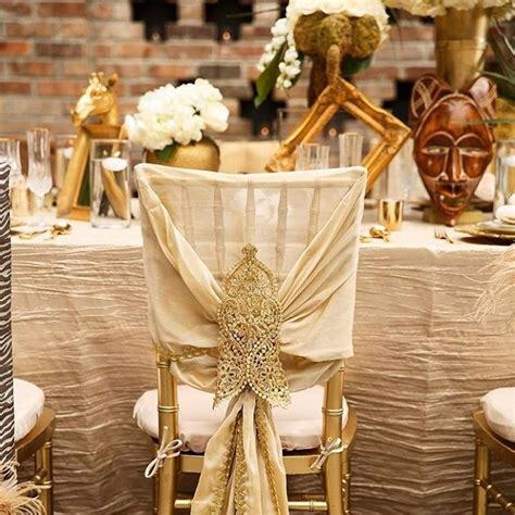 Beautiful Table And Chair Covers For An African Themed