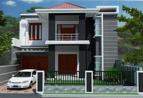 gambar desain rumah  lahan memanjang kesamping