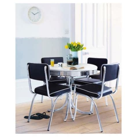 buy rydell  seat set black   garden furniture sets range tescocom ideal home show dining table chairs  dining set dining table