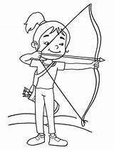 Quiver Coloring Pages Archery Archer Printable 3d App Cute Getcolorings Results Getdrawings sketch template