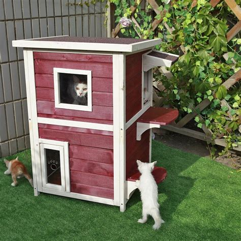 petsfit lxwxh outdoor cat sheltercat house