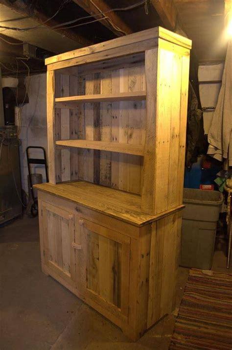 pallet wood kitchen hutch  pallets