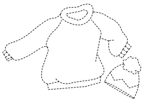 winter clothes tracing worksheet inverno