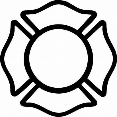 Maltese Cross Firefighter Decals Fire Coloring