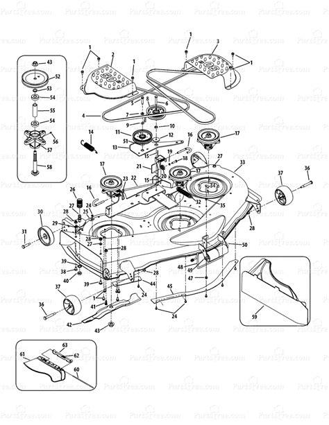 Cub Cadet Ltx 1000 Mower Deck Diagram by Cub Cadet Ltx1050kh 13ap91ap010 13ap91ap056 13rp91ap056