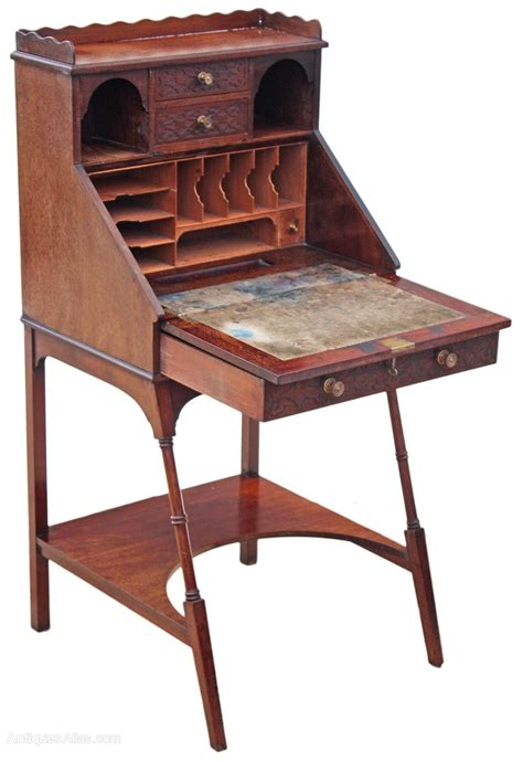 tables bureau edwardian mahogany writing desk bureau table