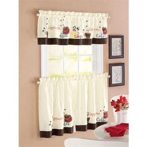 themed window valances coffee themed kitchen curtains coffee themed