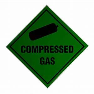 U0026 39 Compressed Gas U0026 39  Warning Sticker