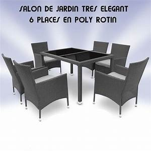 Salon De Jardin 6 Places En Poly Rotin Gris Site Jimdo