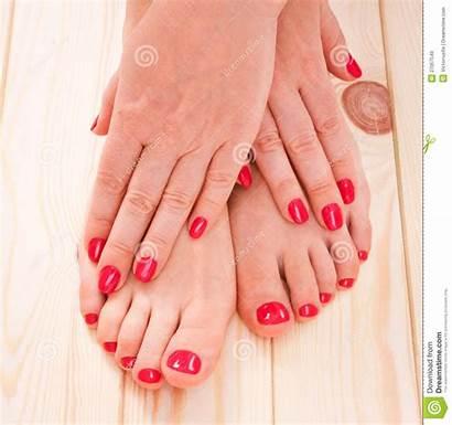 Pedicure Manicure Manucure Rouge Rosso Vermelho Droits