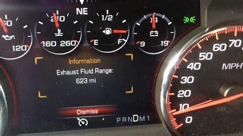 gmc sierra  denali diesel exhaust fluid issues
