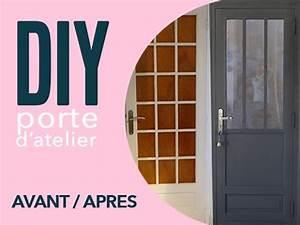 Moderniser Une Porte Intérieure Vitrée : diy une porte atelier a partir d 39 une porte vitree youtube ~ Melissatoandfro.com Idées de Décoration