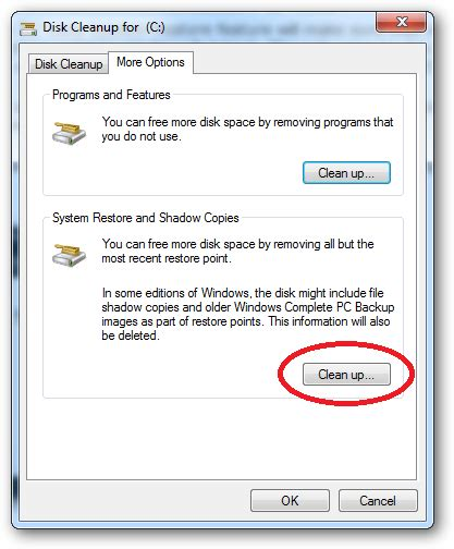 beginner simple tips to reduce disk usage in windows 7