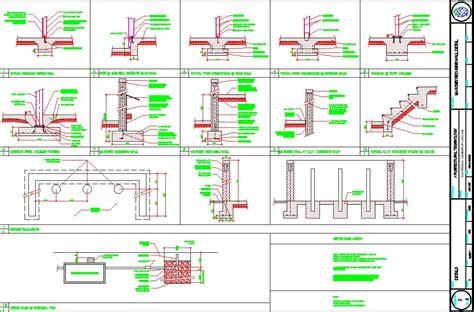 retaining wall dwg autocad drawing landscape plan details