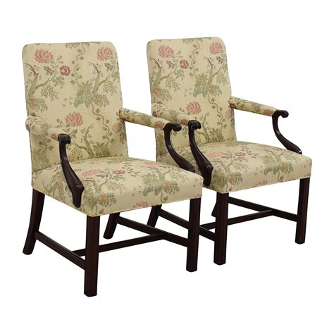 87 traditional upholstered arm chair set of two
