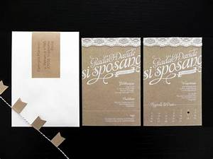 giada davide39s kraft paper and lace wedding invitations With paper to print wedding invitations on