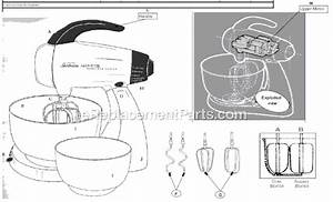 Sunbeam 2364 Parts List And Diagram   Ereplacementparts Com