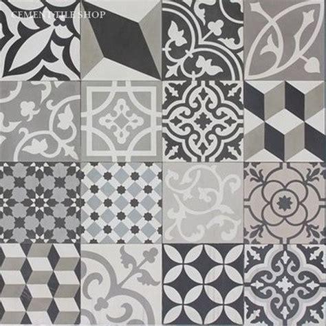 black and white cement tile patchwork cement tiles cement tile shop