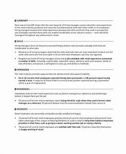 Sales Associate Objective Statement Free 5 Retail Resume Objective Templates In Ms Word Pdf