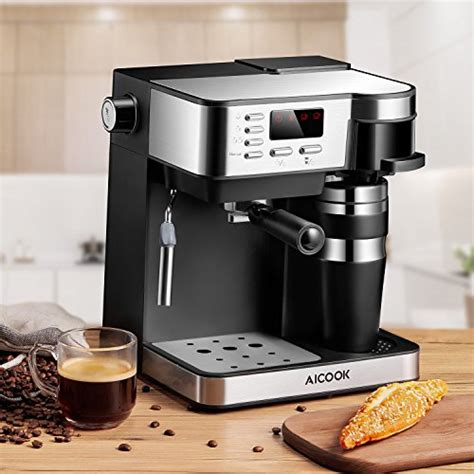 Ecs coffee espresso & coffee gear. AICOOK Espresso and Coffee Machine, 3 in 1 Combination 15 Bar Espresso Machine and Single Serve ...
